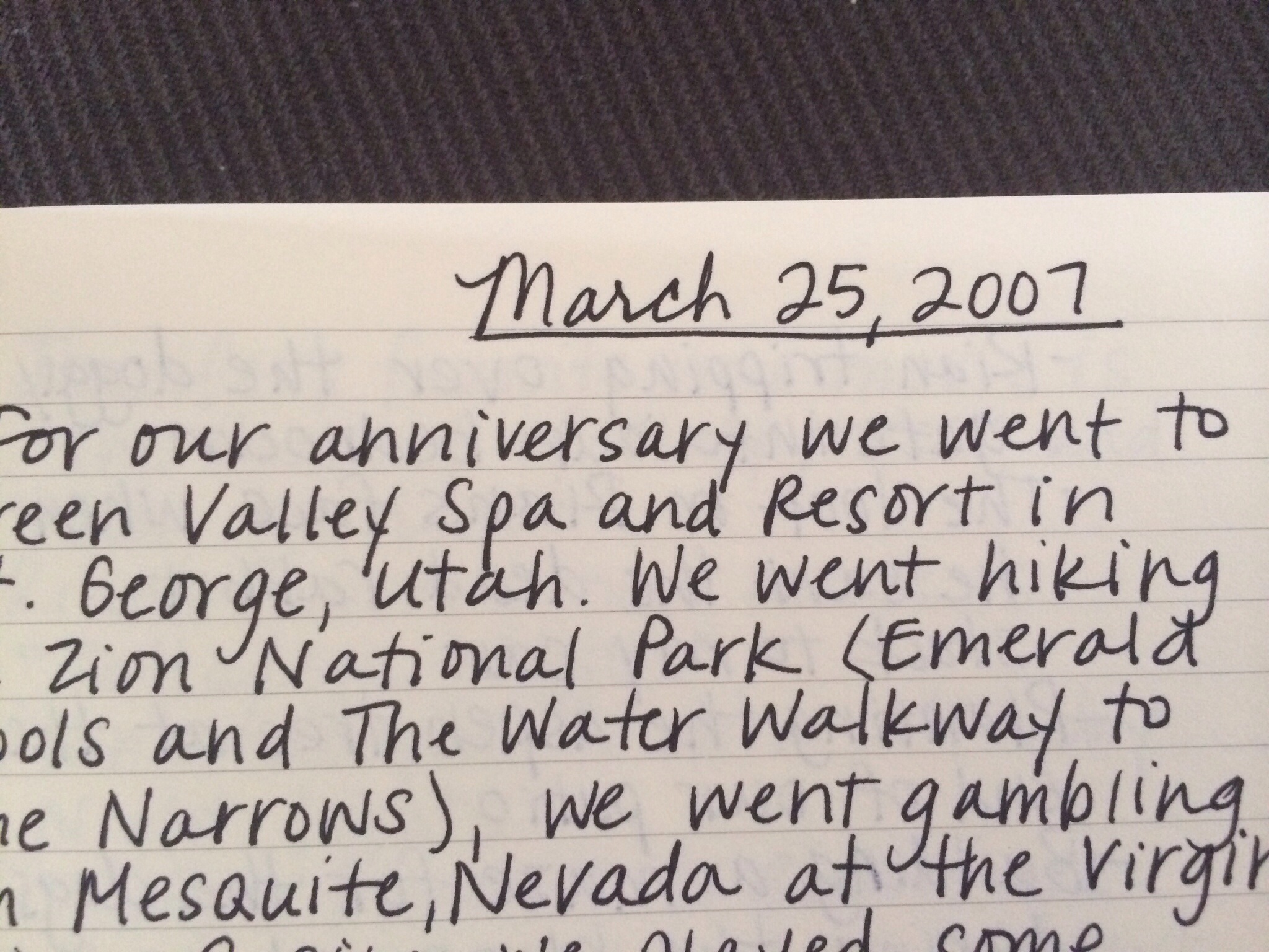 Anniversary journal the kearney good life