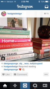 I want all of these books.  I already have a few.  Follow #hodgesdesign - really great home inspiration.